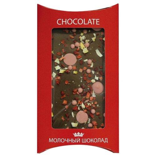 Шоколад Lord молочный 40% с клубникой, 110 г chco chocbar xl de luxe milk 40% молочный шоколад с клубникой 300 г