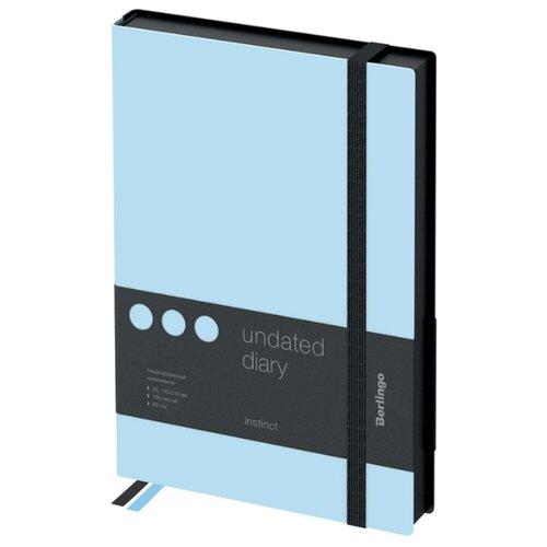 Купить Ежедневник Berlingo Instinct недатированный, искусственная кожа, А5, 136 листов, аквамарин, Ежедневники, записные книжки