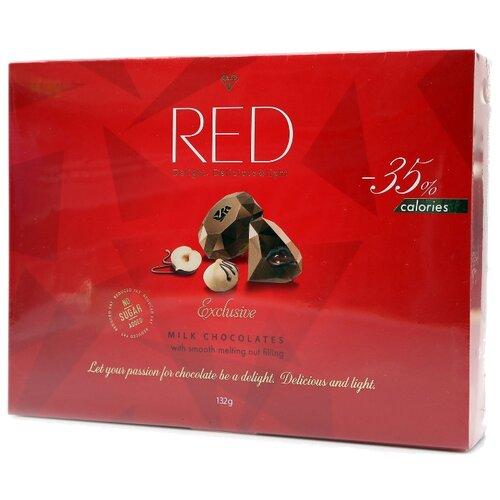 Набор конфет Red Пралине из молочного шоколада 132 г красный