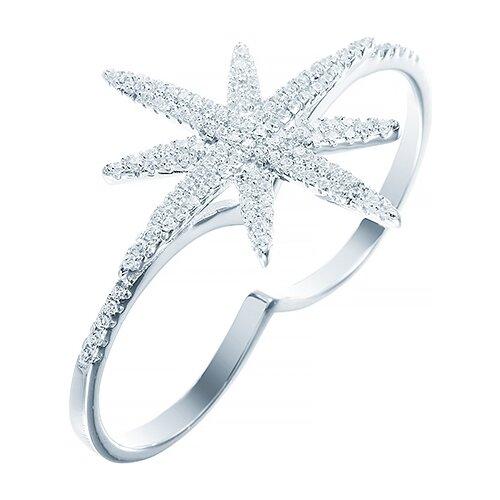 JV Кольцо с фианитами из серебра R25278-R-KO-001-WG, размер 17 jv кольцо с фианитами из серебра r25193 r 001 wg размер 17