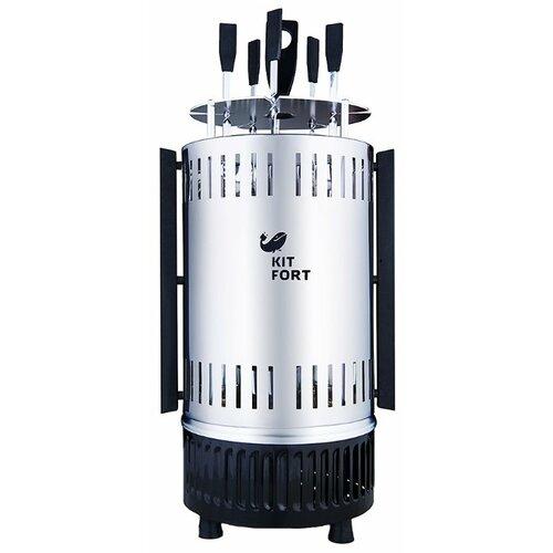 Шашлычница Kitfort KT-1405 серебристый/черный