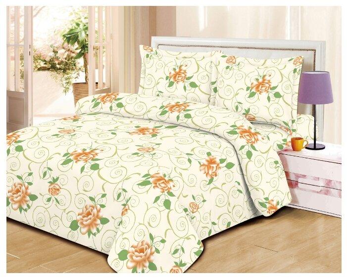 Постельное белье 1.5-спальное ТДЛ Текстиль 162664 микрофибра бежевый