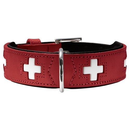 Ошейник HUNTER Swiss 47 38-44 см red/black ошейник hunter swiss 65 51 58 см red black