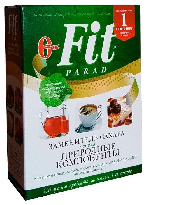 Fit Parad сахарозаменитель №7 природные компоненты коробка порошок