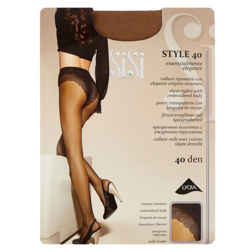 Фото - Колготки Sisi Style, 40 den, размер 5-MAXI XL, miele (бежевый) колготки sisi fascino 20 den размер 5 maxi xl miele бежевый