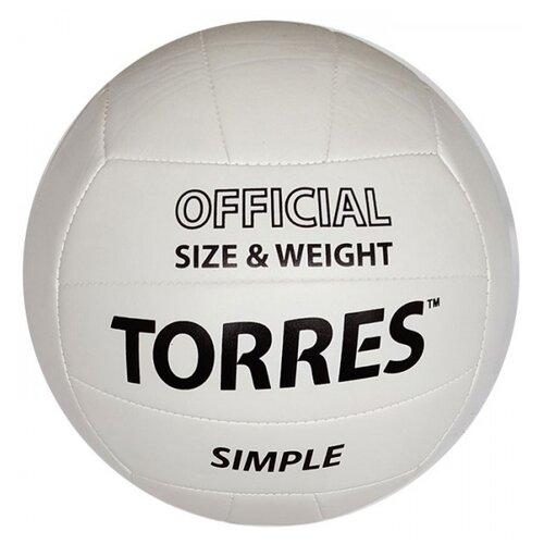 Волейбольный мяч TORRES SIMPLE V10105 белый