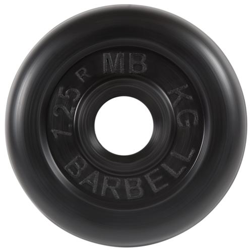 Диск MB Barbell Стандарт MB-PltB26 1.25 кг черный
