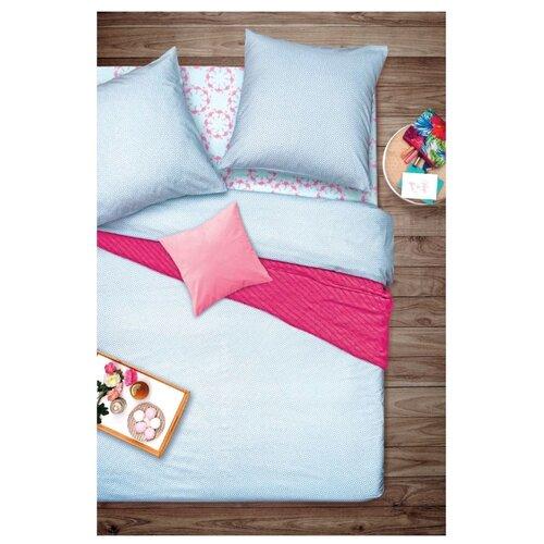 Постельное белье семейное Sova & Javoronok Фламинго 70х70 см, бязь розовый/голубой кпб семейное голубой попугай сирень постельное белье с рисунком