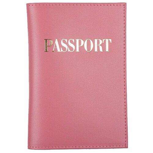 Обложка для пасп. РФ мягкая из кожи Ладья темно-розовая,OP-4-1 Rose ERIKA