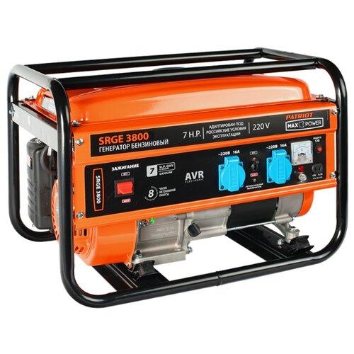 Фото - Бензиновый генератор PATRIOT Max Power SRGE 3800 (474 10 3155) (2800 Вт) электрогенератор patriot max power srge 6500е