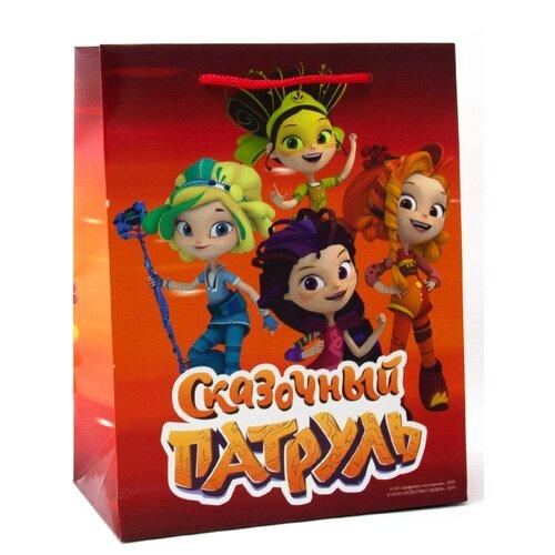 Пакет подарочный ND Play Сказочный патруль 18х22.7х10 см оранжевый недорого