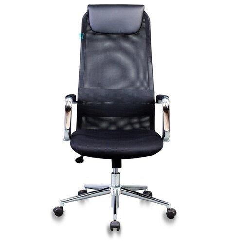 Компьютерное кресло Бюрократ KB-9N для руководителя, обивка: текстиль/искусственная кожа, цвет: черный