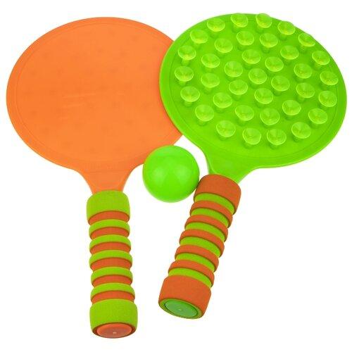 Купить Игровой набор 1TOY Теннис (Т17323) зеленый/оранжевый, 1 TOY, Спортивные игры и игрушки