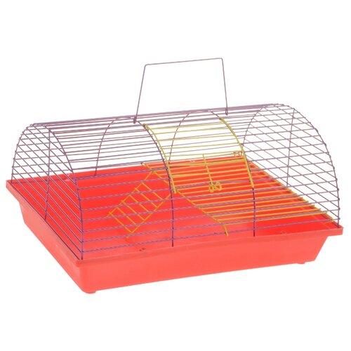 Клетка для грызунов Зоо Марк 110Ж 36х23х17.5 см красный/фиолетовый