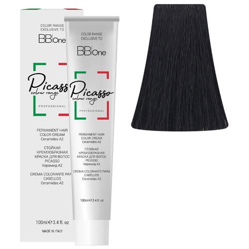 BB One Picasso Colour Range Перманентная крем-краска, 100 мл, 1 черный hydreane bb крем