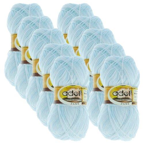 Купить Пряжа Adelia Jane, 100 % акрил, 50 г, 227 м, 10 шт., 01 белый-бл.голубой