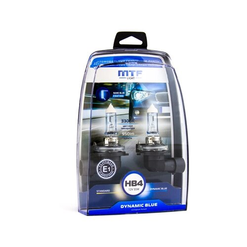 Фото - Лампа автомобильная галогенная MTF Dynamic Blue HDB12B4 HB4(9006) 12V 55W 2 шт. лампа автомобильная галогенная mtf dynamic blue hdb1280 h27 880 12v 27w 2 шт