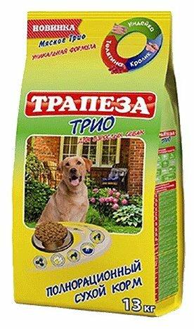Корм для собак Трапеза Трио для собак всех пород с Индейкой, Кроликом и Телятиной