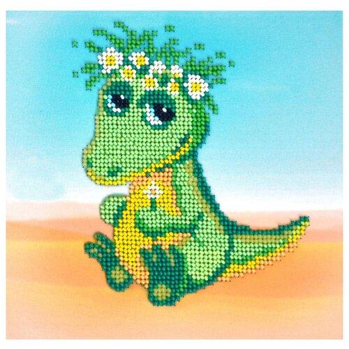 Бисеринка Набор для вышивания бисером Крокодильчик 16,5 х 16,5 см (Б-0119)