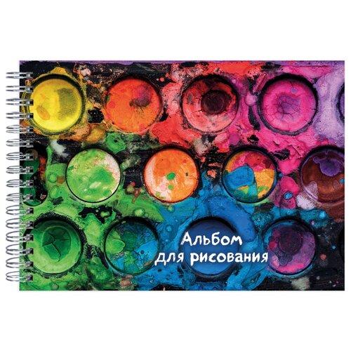Купить Альбом для рисования ЭКСМО Краски 29.7 х 21 см (A4), 160 г/м², 40 л., Альбомы для рисования