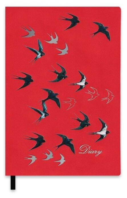 Ежедневник Феникс+ Ласточки недатированный, искусственная кожа, А5, 120 листов