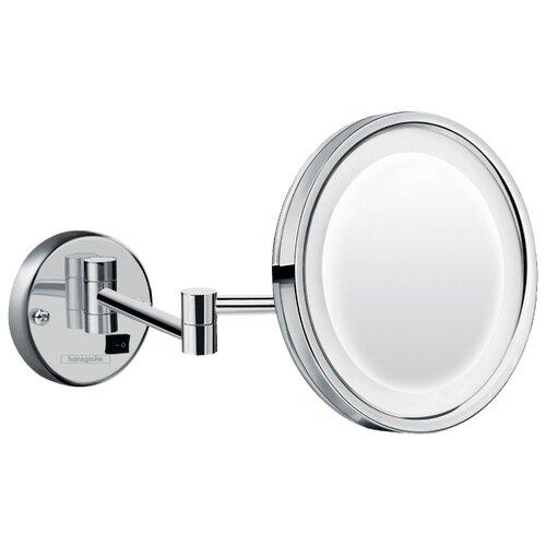 цена на Зеркало косметическое настенное hansgrohe Logis Universal Зеркало для бритья с подсветкой LED с подсветкой хром