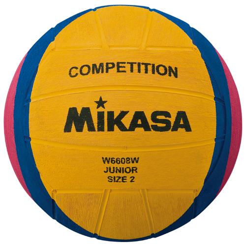 Мяч для водного поло Mikasa W6608W желтый/синий/розовый