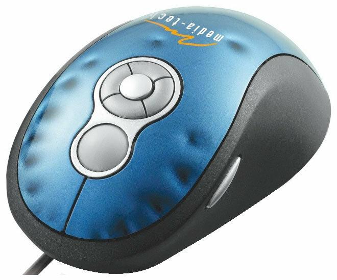 Мышь Media-Tech MT1036 Blue-Black USB
