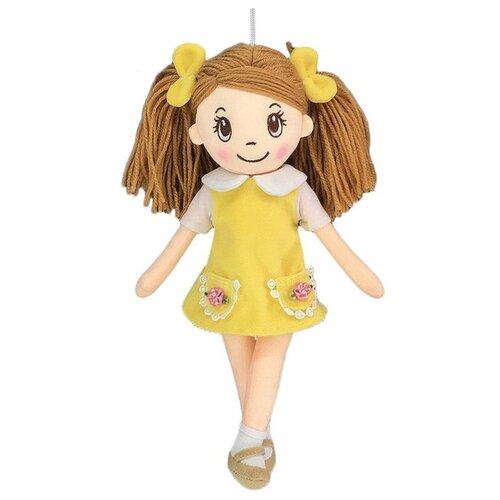 Игрушка-брелок ABtoys Кукла в желтом платье 30 см