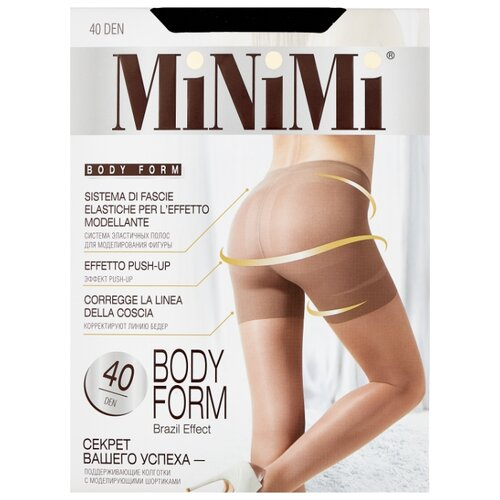 Колготки MiNiMi Body Form 40 den, размер 4-L, nero (черный) колготки minimi vittoria 40 den размер 4 l nero черный