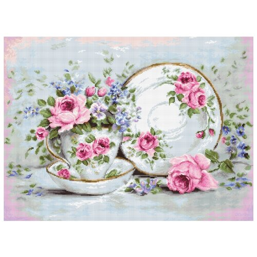 Фото - Luca-S Набор для вышивания Трио и цветы 38 x 28 см (B2318) набор для вышивания luca s b548 клёвое место