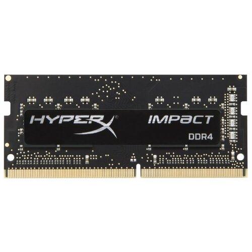 Купить Оперативная память HyperX Impact DDR4 2400 (PC 19200) SODIMM 260 pin, 4 ГБ 1 шт. 1.2 В, CL 14, HX424S14IB/4
