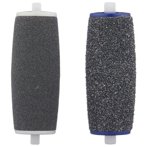 Сменная насадка для роликовой пилки Scholl Velvet Smooth Diamond Crystals 1 ролик экстражесткий, 1 ролик экстра мягкий для полировки черный