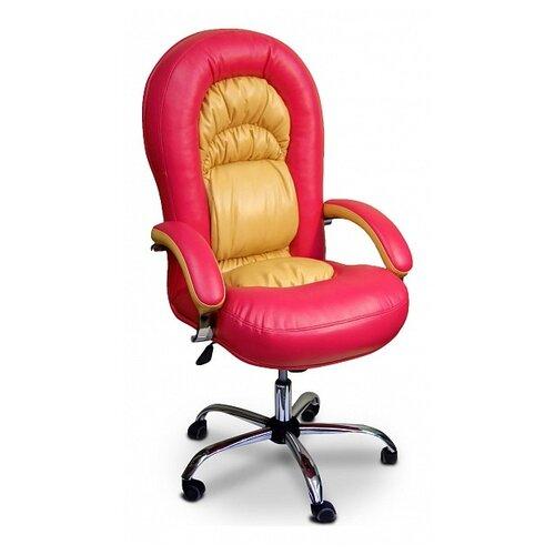 Компьютерное кресло Креслов Шарман КВ-11-131112 офисное, обивка: искусственная кожа, цвет: бежевый/фуксия