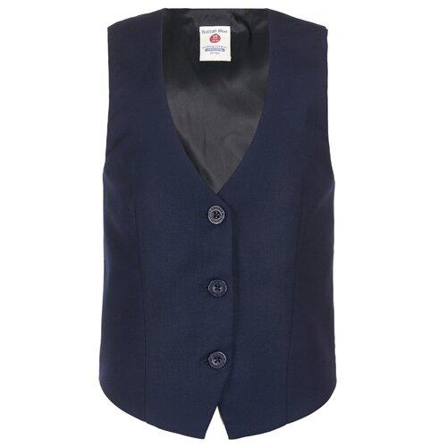 Купить Жилет Button Blue размер 122, синий, Жилеты