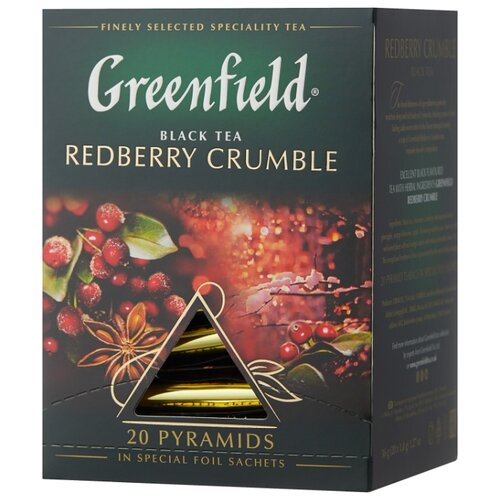 Чай черный Greenfield Redberry Crumble в пирамидках, 20 шт. svay black thyme черный чай в пирамидках 20 шт