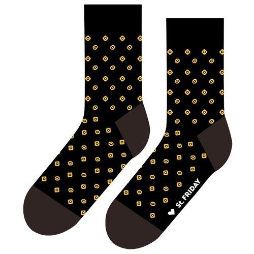 Фото - Носки St. Friday В ожидании чёрных огурцов, размер 38-41 , черный/коричневый/желтый носки st friday египетская сила размер 38 41 белый коричневый желтый