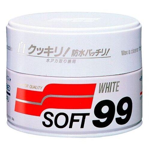 цена на Воск для автомобиля Soft99 твердый Soft Wax для светлых оттенков кузова 0.35 кг