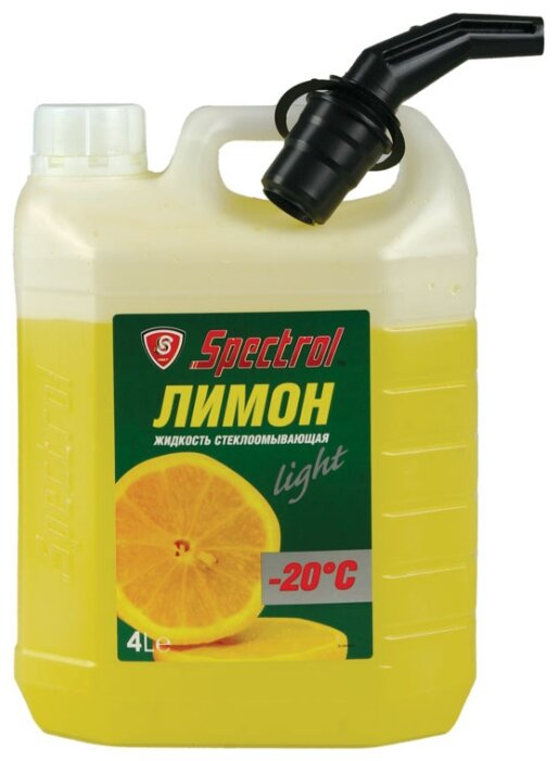 Жидкость для стеклоомывателя Spectrol Лимон light, -20°C, 4 л