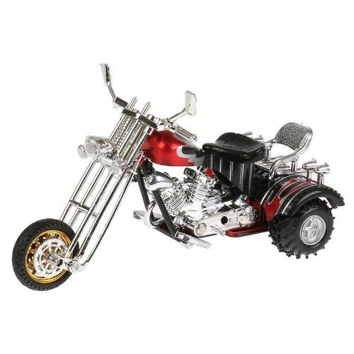 цена на Мотоцикл ТЕХНОПАРК Трайк (ZY797890-R) 18 см черный/серебристый