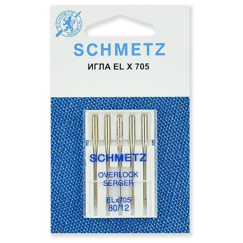 Игла/иглы Schmetz ELx705 80/12 серебристый