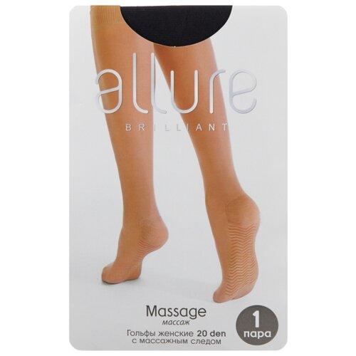 Капроновые гольфы ALLURE Massage 20 den, размер универсальный, nero