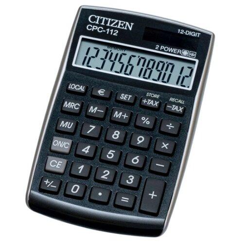 Калькулятор карманный CITIZEN CPC-112 черный