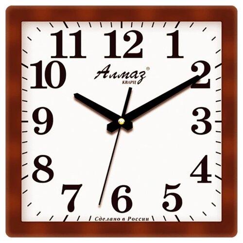 Часы настенные кварцевые Алмаз K20 коричневый/белый часы настенные кварцевые алмаз c51 c54 коричневый белый