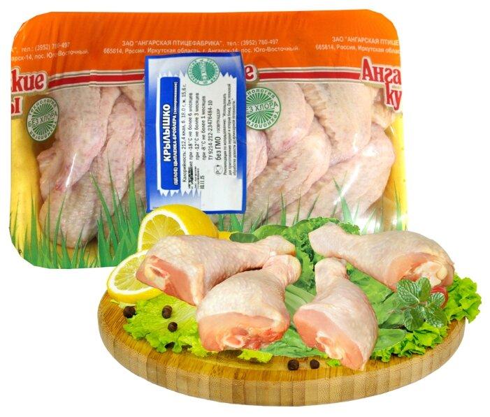 Ангарская птицефабрика Крылышко цыпленка-бройлера замороженное, 1 кг
