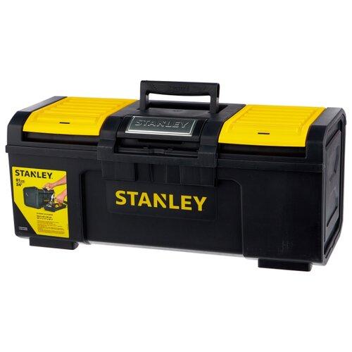 Ящик с органайзером STANLEY 1-79-218 Line Toolbox 59.5x28.1x26 см 24'' черный ящик с органайзером stanley jumbo 1 92 906 27 6x48 6x23 2 см черный желтый