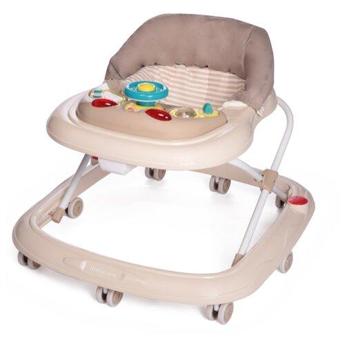 Ходунки Baby Care Pilot бежевый/полосы ходунки baby care mario белый синий
