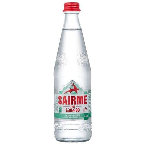 Вода минеральная лечебно-столовая Sairme газированная, стекло, 0.5 л