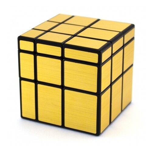Купить Головоломка QiYi MoFangGe 3x3x3 Mirror Blocks (зеркальный, с наклейками) черный/золотой, Головоломки
