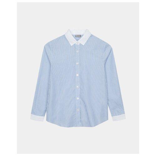Купить Блузка Gulliver размер 122, голубой, Рубашки и блузы